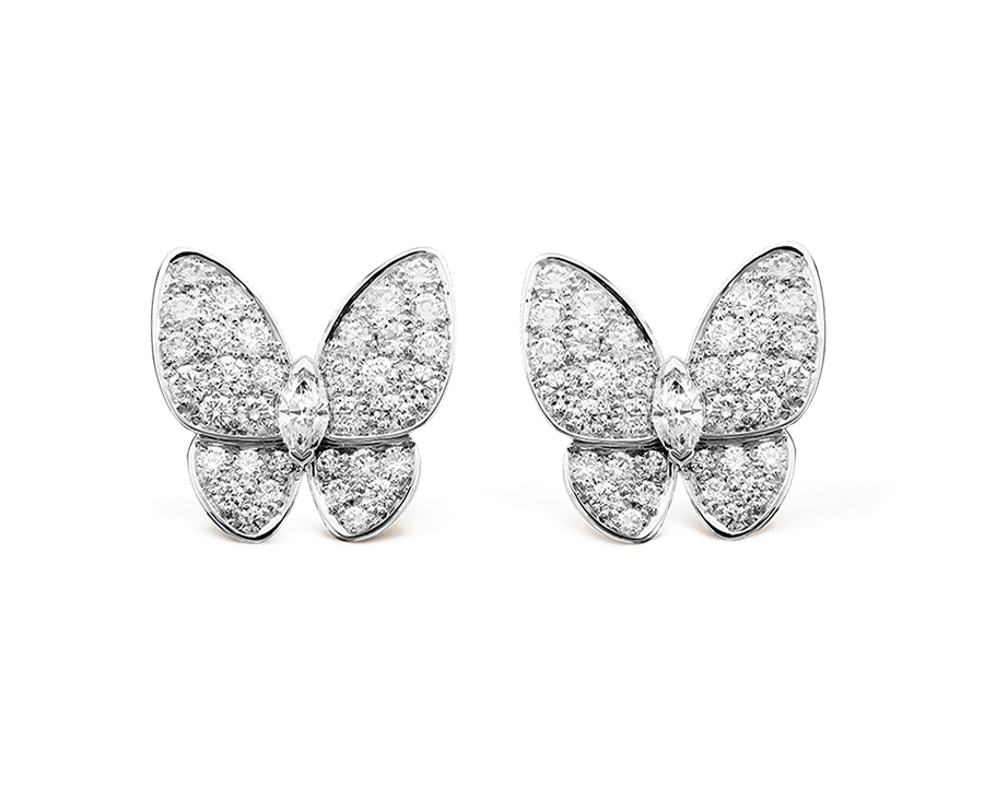 Серьги Van Cleef Arpels коллекция Fauna Two Butterfly  арт. VC-70441