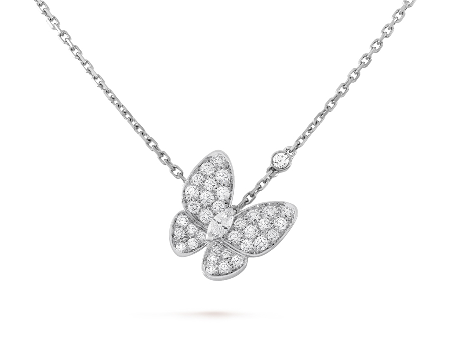 Подвеска Van Cleef Arpels коллекция Fauna Two Butterfly  арт. VC-65443