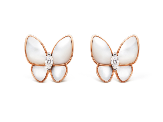 Серьги Van Cleef Arpels коллекция Fauna Two Butterfly  арт. VC-45434