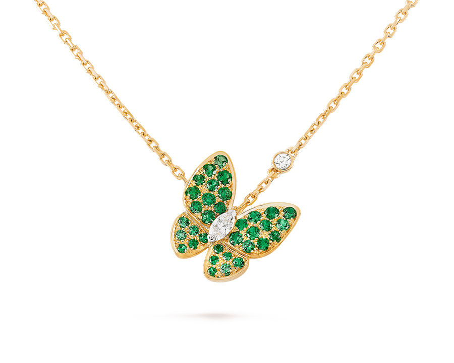 Подвеска Van Cleef Arpels коллекция Fauna Two Butterfly  арт. VC-65442