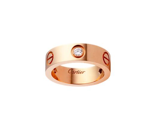 Кольцо Картье Love, цвета розового золота CR-08484