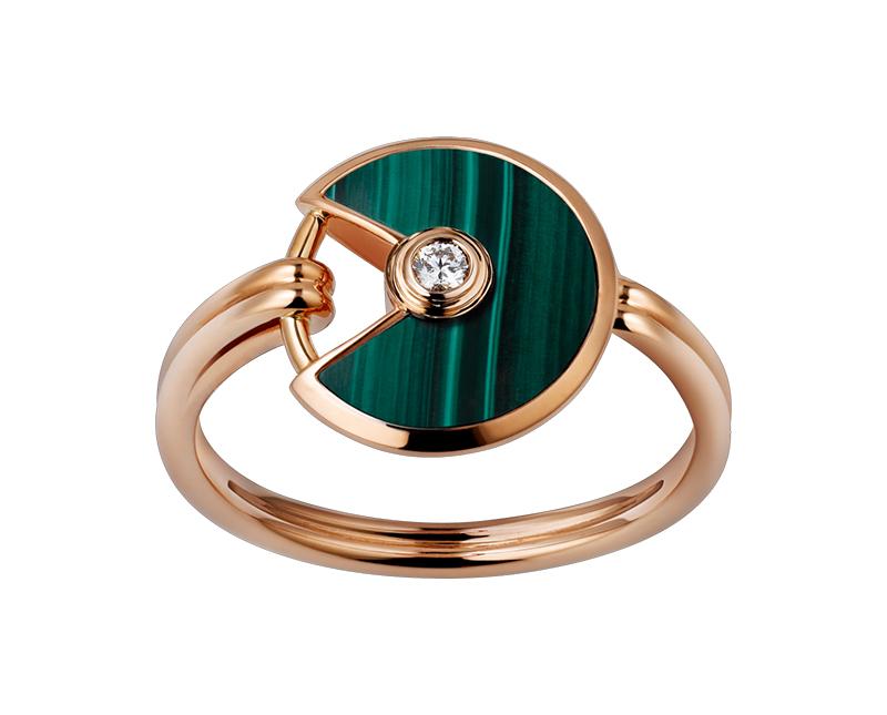 Браслет и кольцо Amulette de Cartier малахит арт. CR-168339