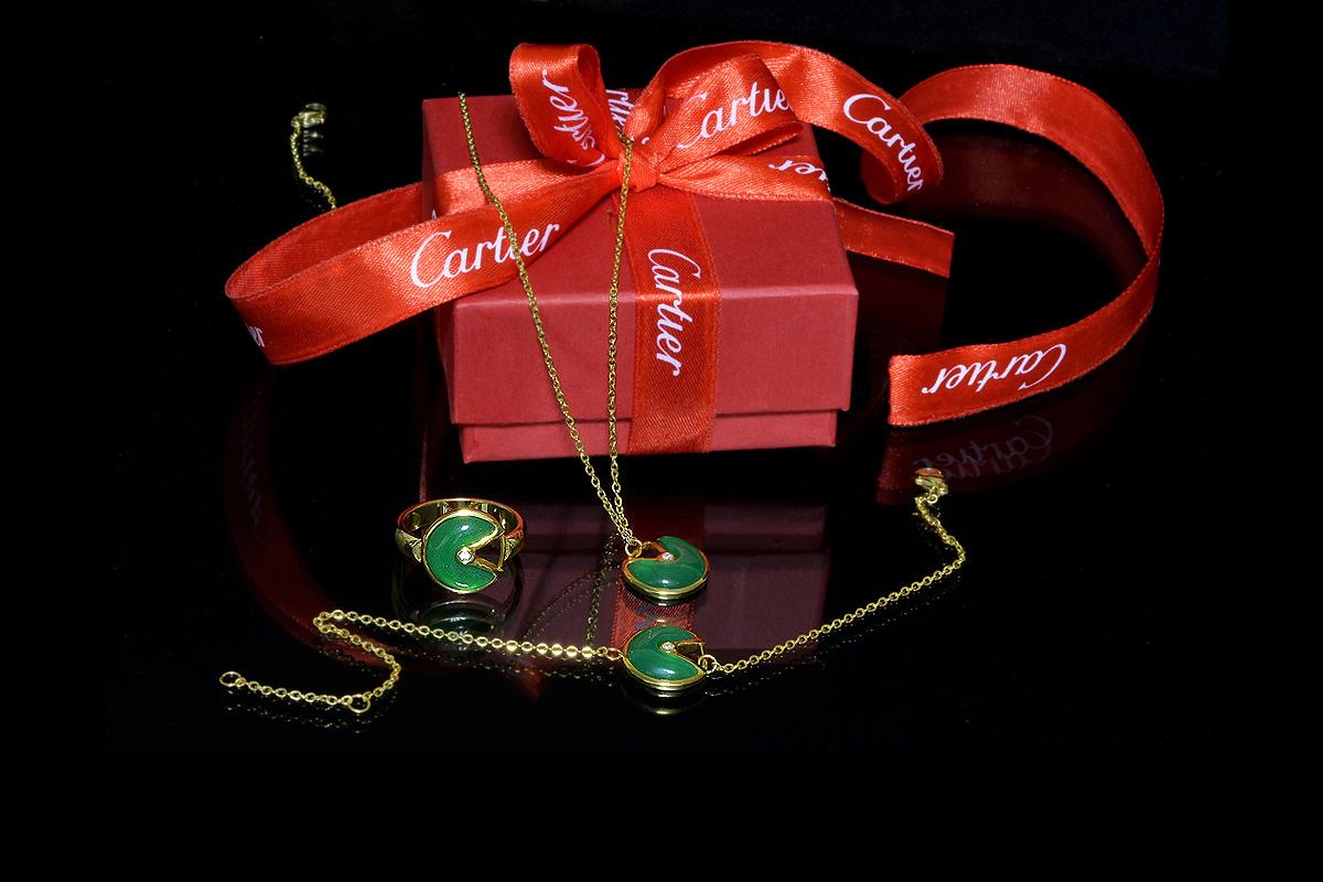 Комплект Amulette de Cartier (кулон, кольцо) арт. CR-73464