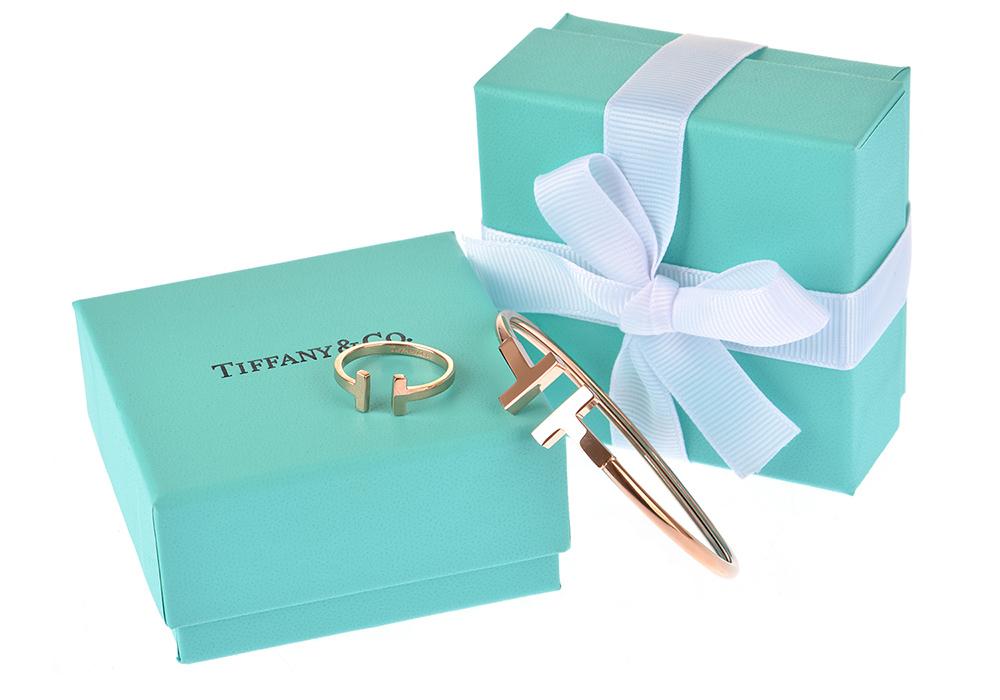 Браслет и кольцо Tiffany T Wire арт. TF-35806
