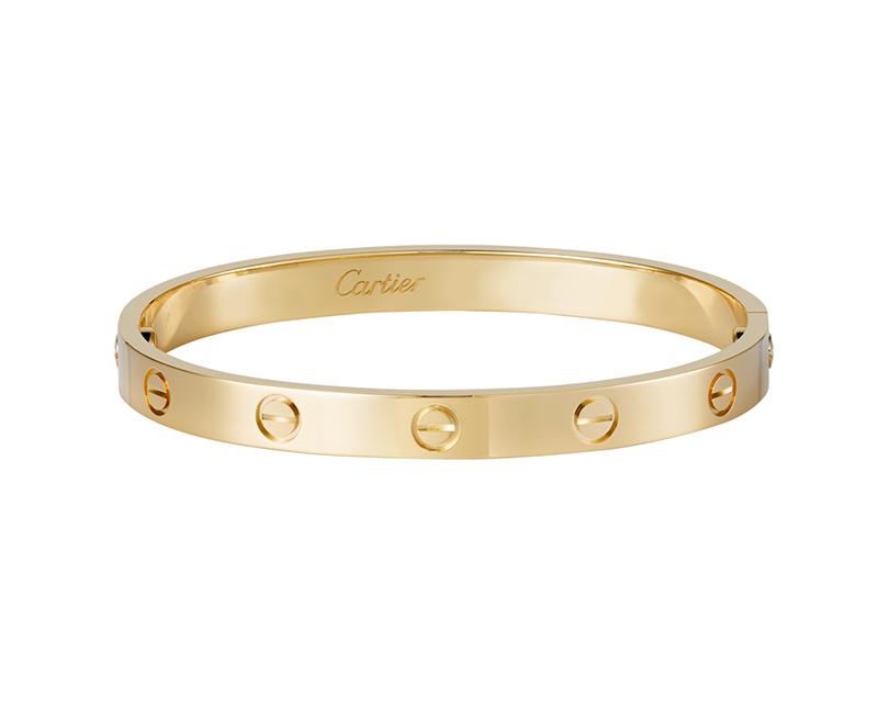 Браслет Картье Love с отверткой, цвета желтого золота CR-23478