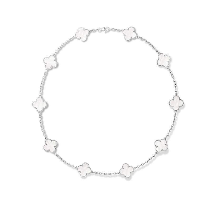 Колье Van Cleef Arpels коллекция Vintage Alhambra, 10 мотивов арт. VC-65373