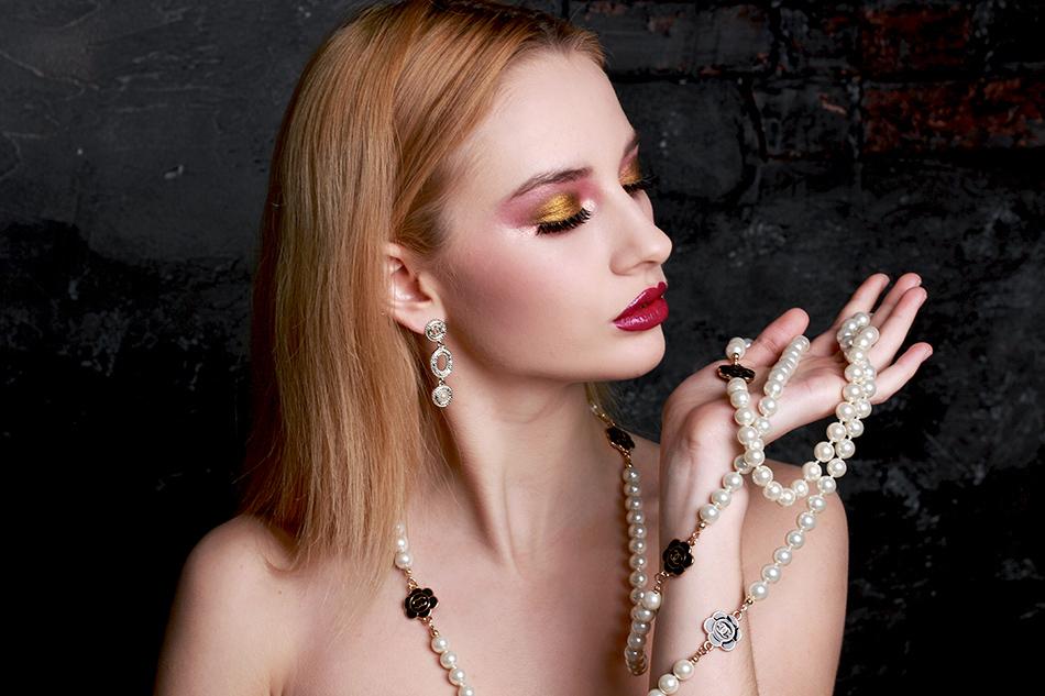Серьги и ожерелье Шанель арт. CH-156349