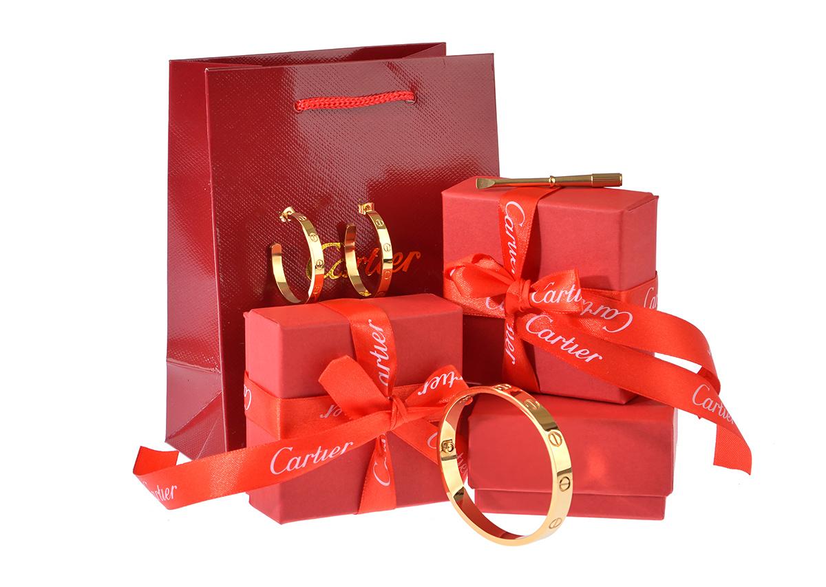 Комплект Картье Love Cartier серьги и браслет арт. CR-43505