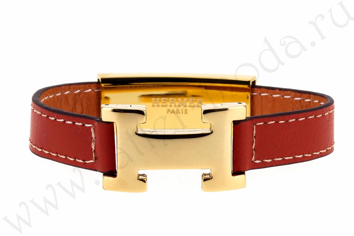 Кожаный браслет Hermes арт. HM-45172