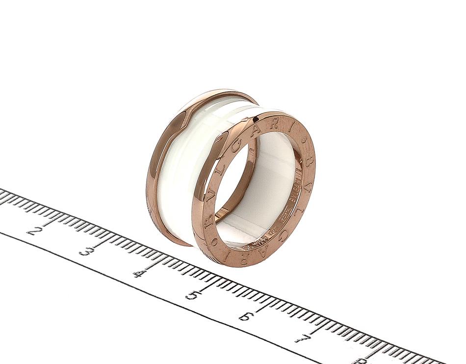 Кольцо B.zero1 в четыре полосы белая керамика арт. ZERO-23093