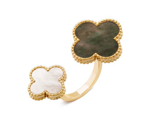 Кольцо Van Cleef Arpels на два пальца Magic Alhambra арт. VC-25436