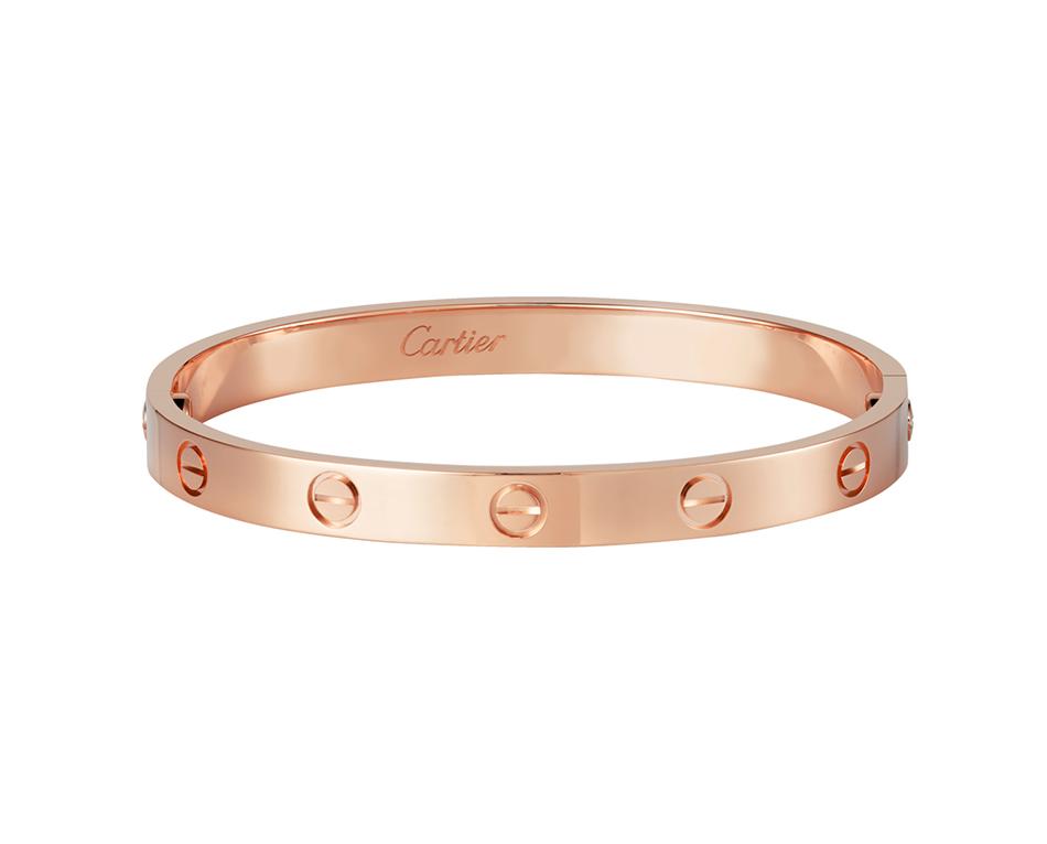 Браслет Картье Love с отверткой, цвета розового золота CR-24479