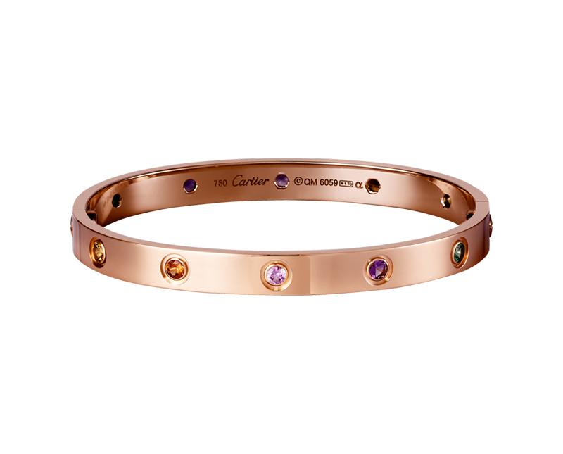 Браслет Картье Love с отверткой, цвета розового золота CR-30472