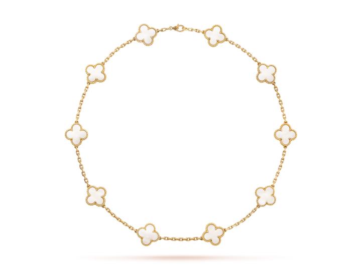 Колье Van Cleef Arpels коллекция Vintage Alhambra, 10 мотивов арт. VC-50418