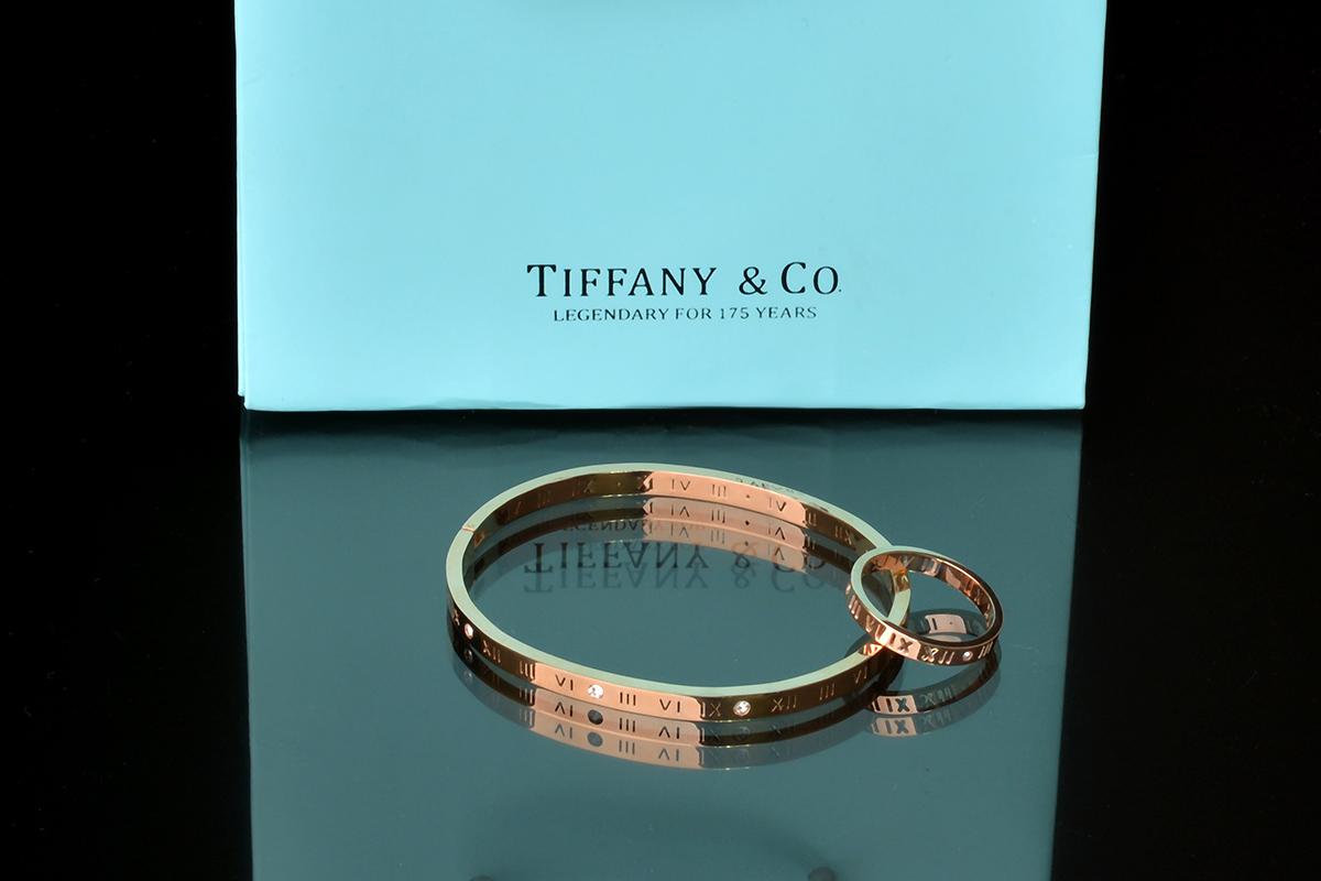 Браслет и кольцо Atlas Tiffany с художественной перфорацией арт. TF-30790