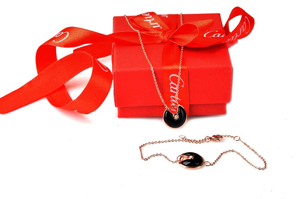 Комплект Amulette de Cartier (серьги, колье и браслет) арт. CR-53467
