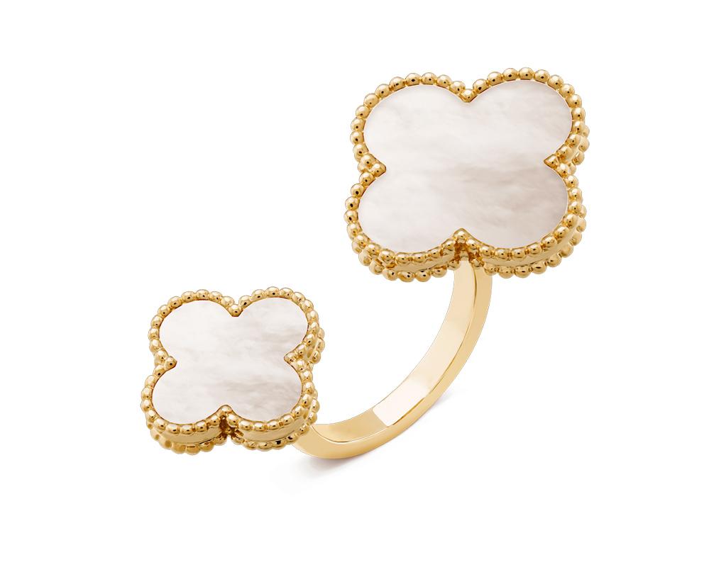 Кольцо Van Cleef Arpels на два пальца Magic Alhambra арт. VC-25450