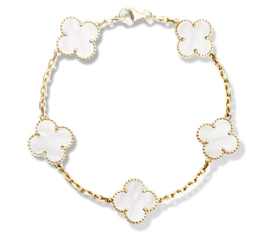 Комплект Van Cleef Arpels коллекция Vintage Alhambra (серьги, колье, браслет) арт. VC-183471