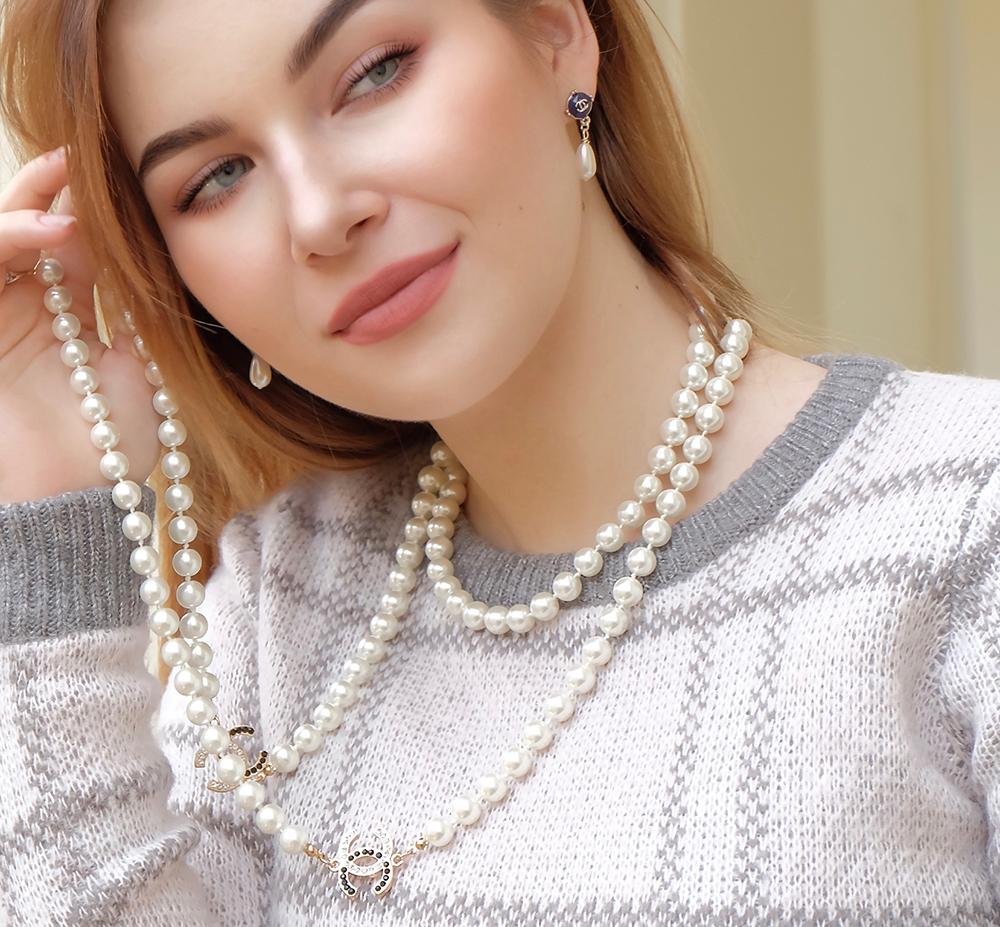 Жемчужное ожерелье Шанель арт. CH-28380