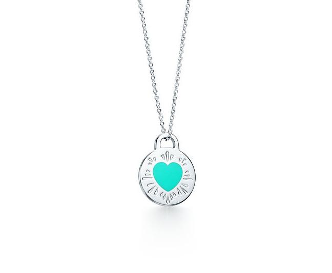 Подвеска голубое сердце в круге Return to Tiffany арт. TF-22731