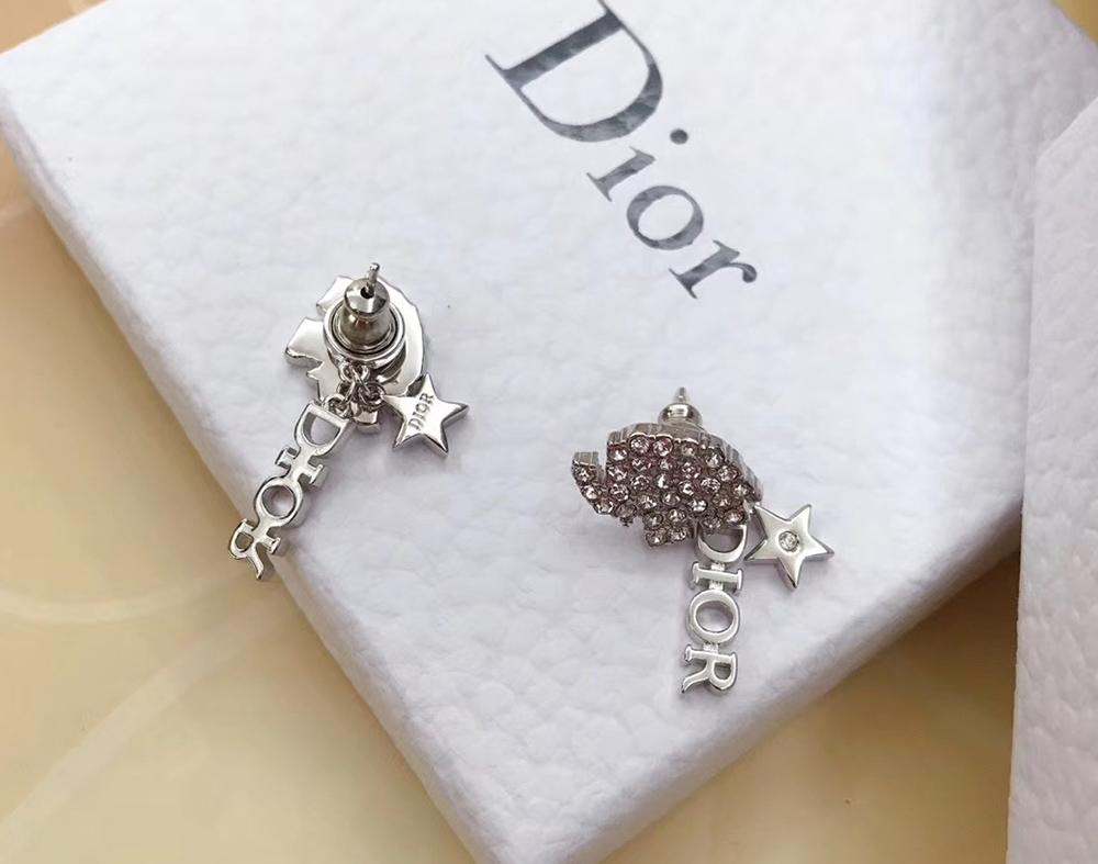 Комплект серьги и колье Dior Diorable с мотивом слона арт. DS-70321