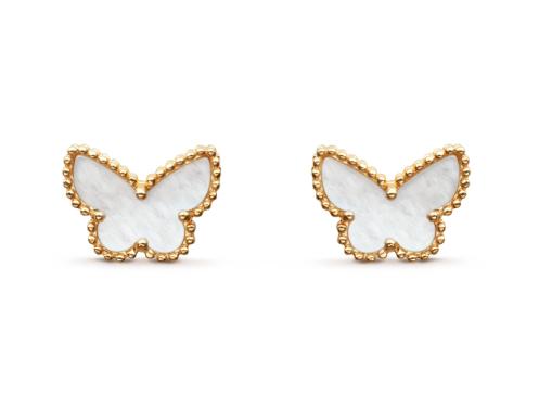Пуссеты Van Cleef Arpels коллекция Sweet Alhambra Butterfly арт. VC-22424