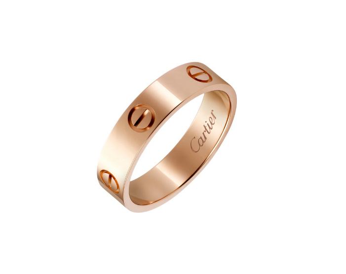 Кольцо Картье Love, цвета розового золота CR-08483