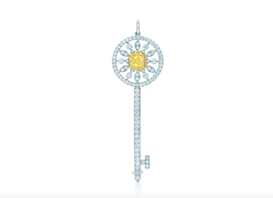 Подвеска - ключ Tiffany Keys с короной арт. TF-27774