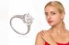 Серебряное кольцо с кристаллами Сваровски арт. TF-40713